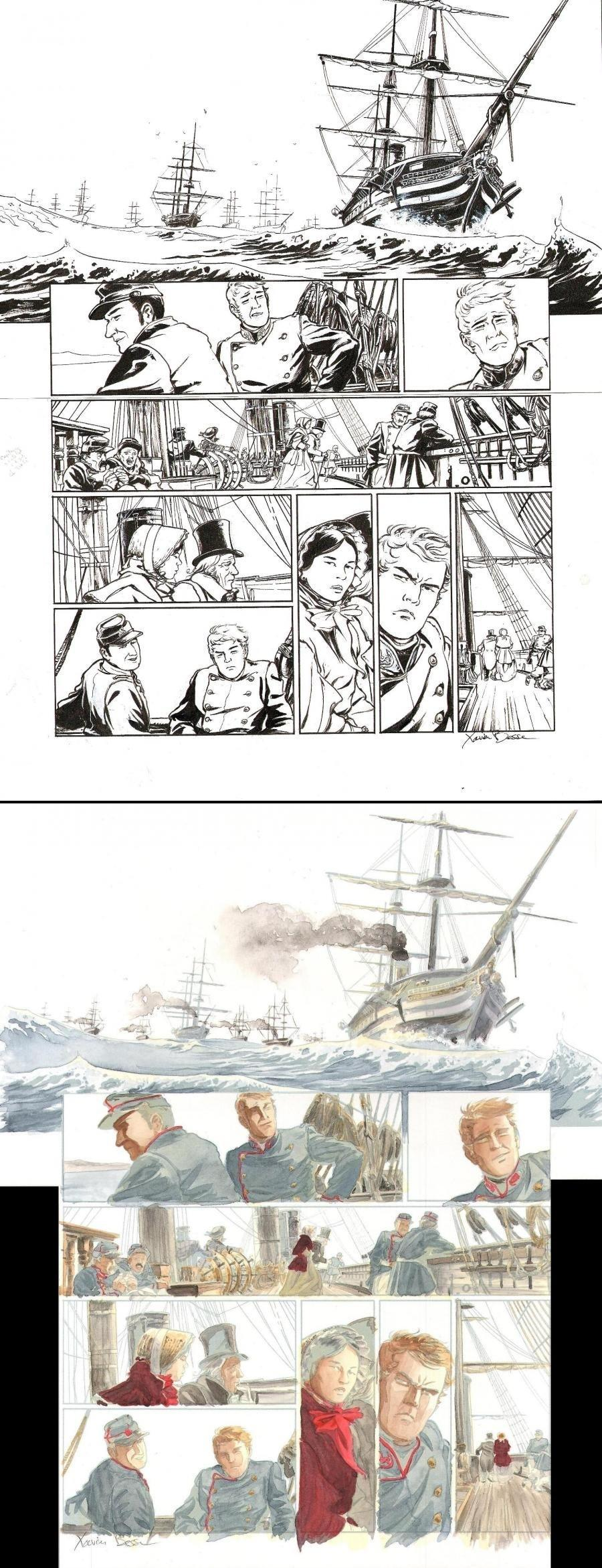 Original page 23 from LAOWAI Issue 1.  La guerre de l'opium by Xavier BESSE