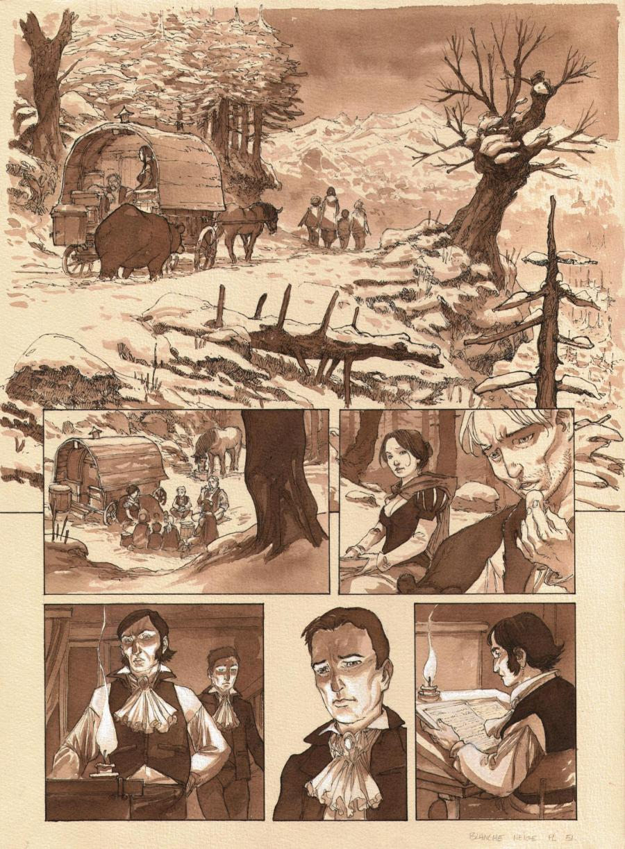 Original comic page 51 from SNOW WHITE by MEDDOUR