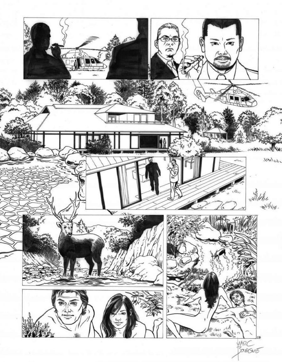 Original page 28 of FRANK LINCOLN issue 5. Kusu-Gun