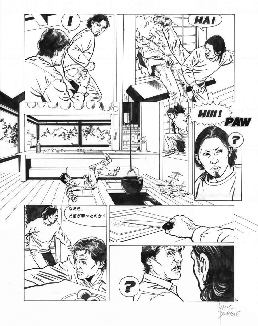 Original page 35 of FRANK LINCOLN issue 5. Kusu-Gun