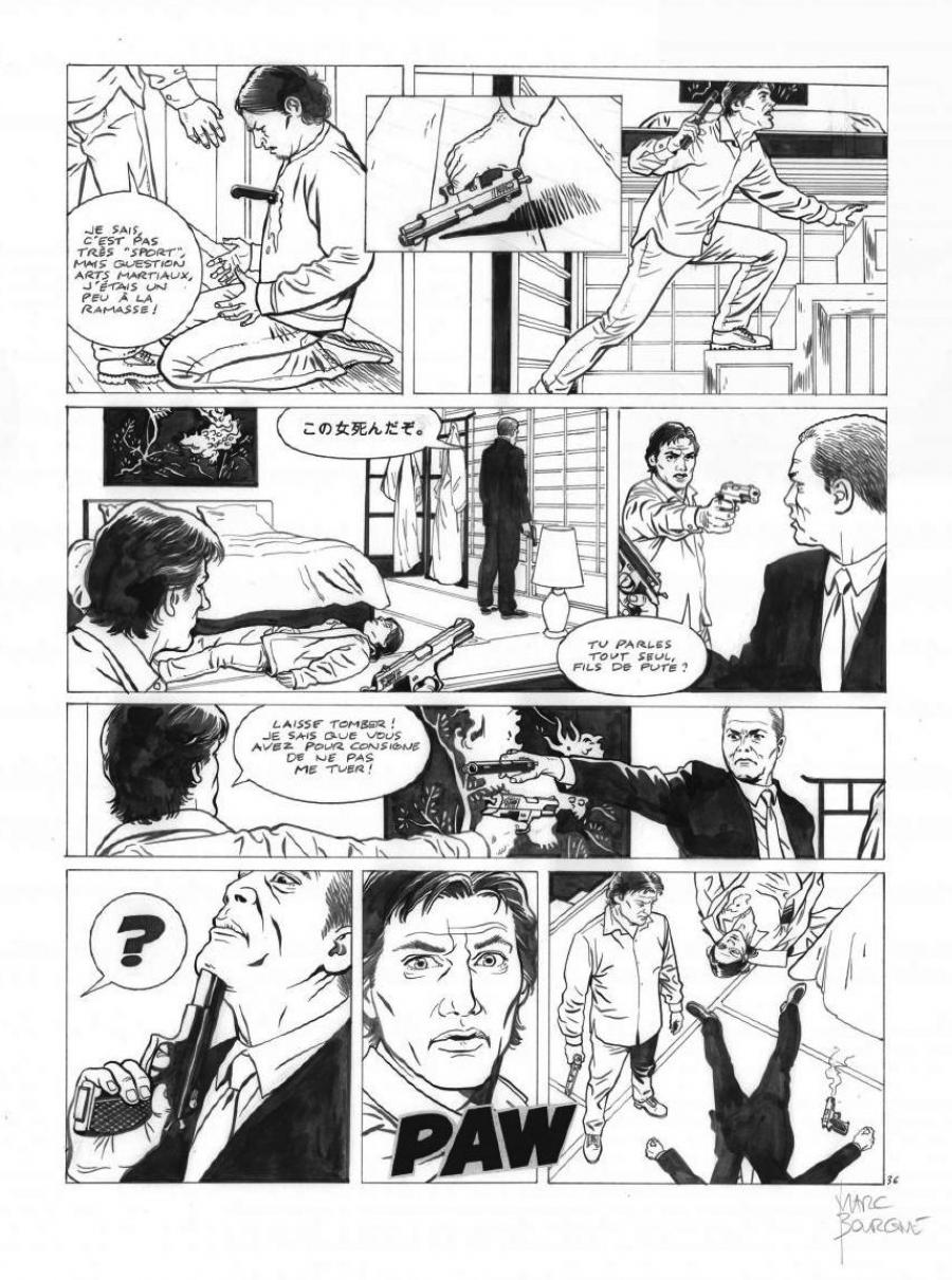 Original page 36 of FRANK LINCOLN issue 5. Kusu-Gun
