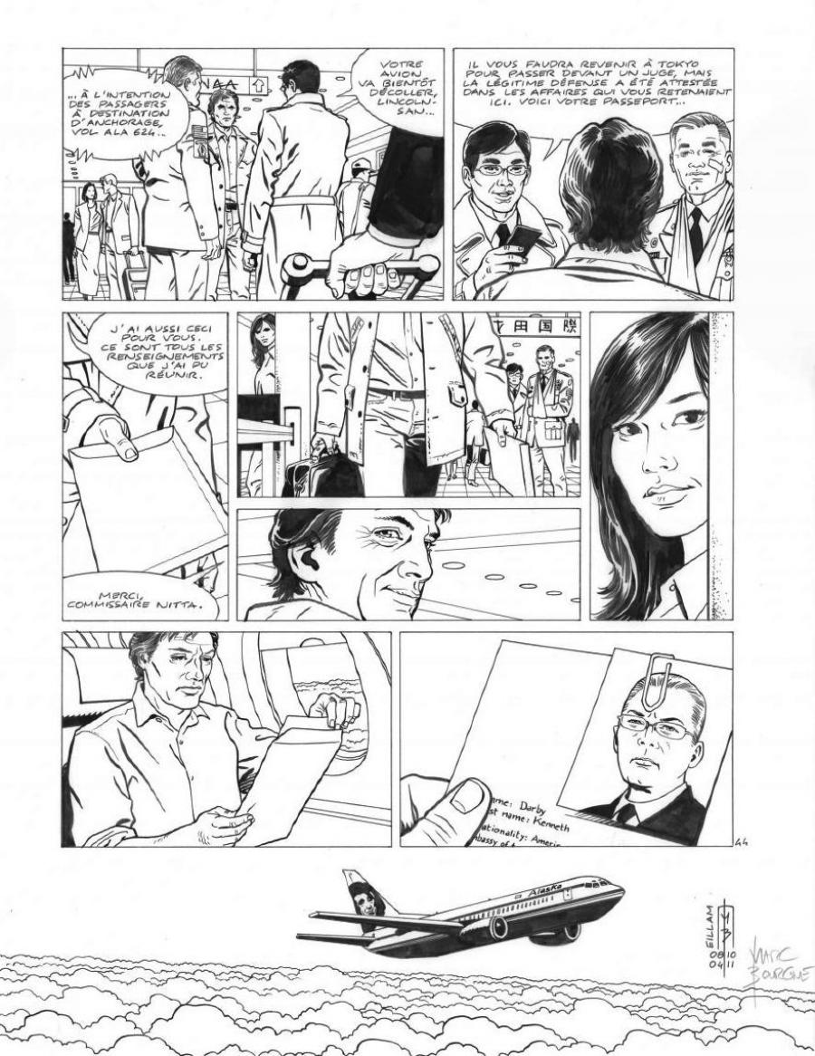 Original page 44 of FRANK LINCOLN issue 5. Kusu-Gun