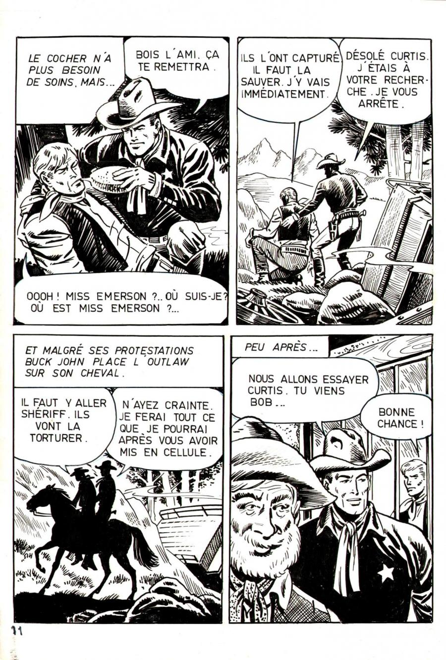 Robert LEGUAY's original comic art BUCK JOHN page 11