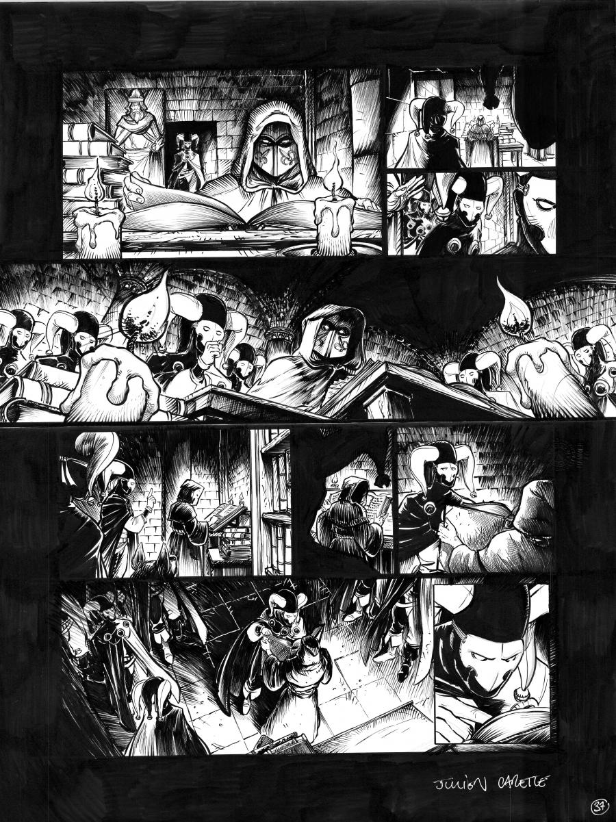 Original Comics illustration, Napoleon Gallery : LE BOURREAU - Original page 37 of LE BOURREAU issue 3 by Julien CARETTE - 37