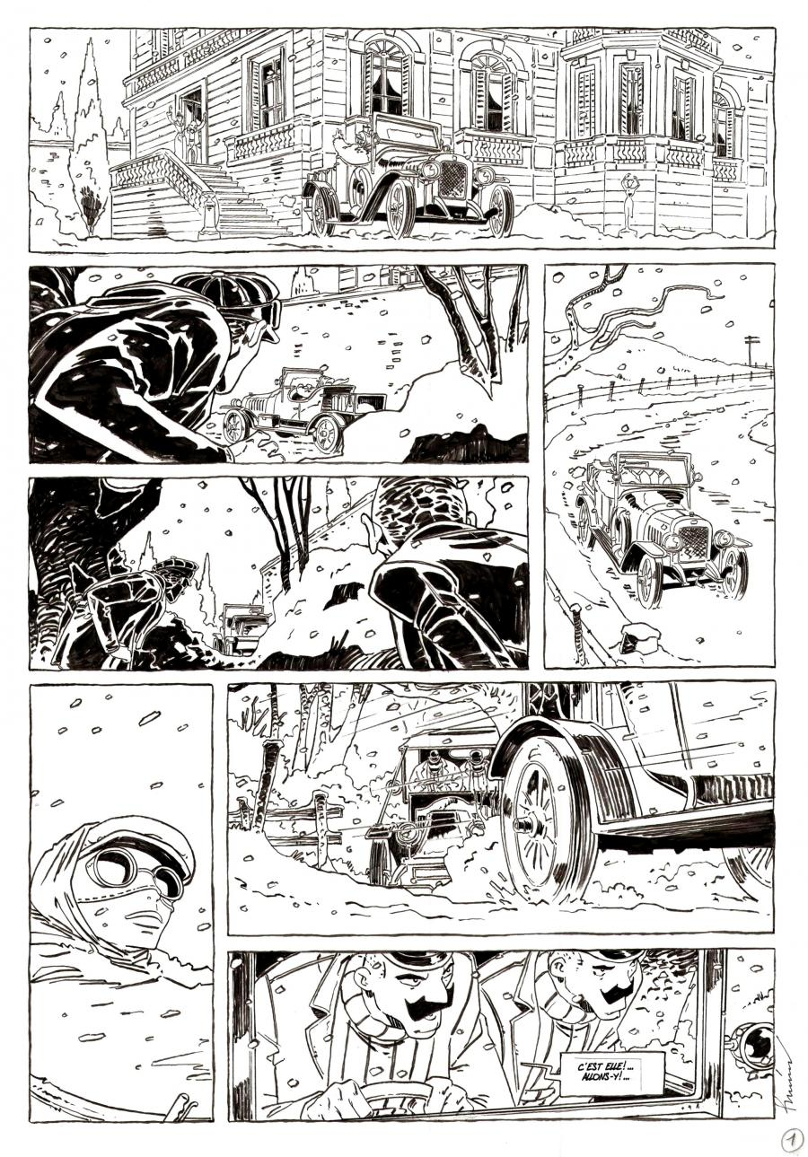 Original comic art CHAMBRE OBSCURE comic series Issue 2 page 1
