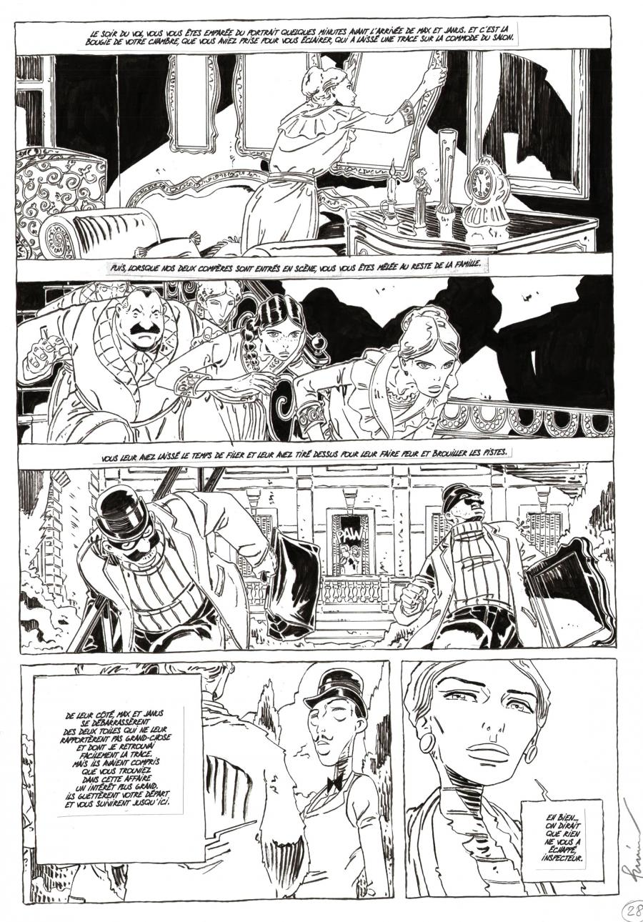 Original comic art CHAMBRE OBSCURE comic series Issue 2 page 28