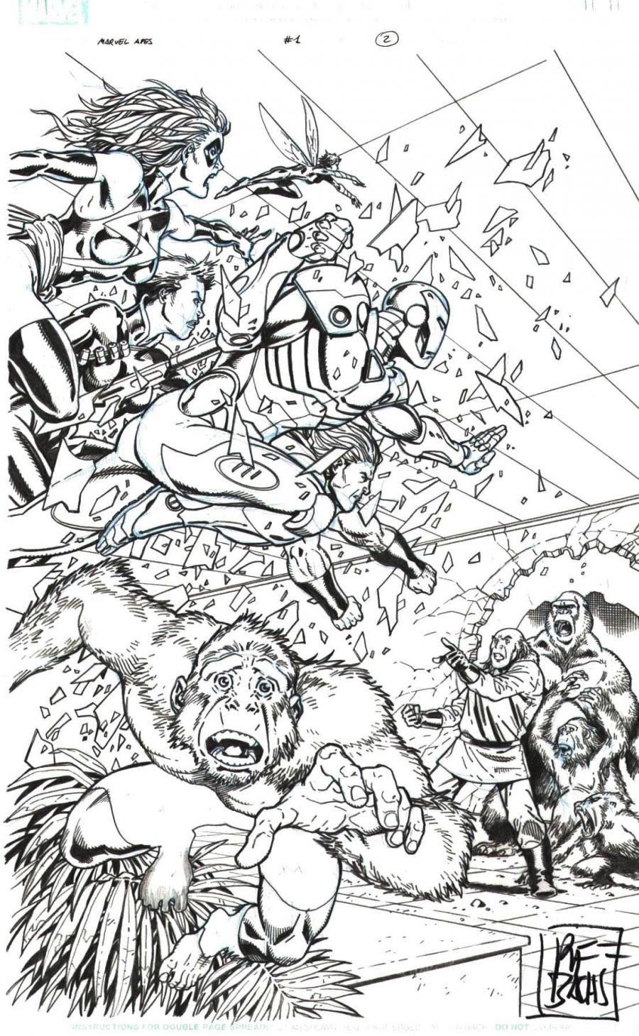 MARVEL Apes original comic art issue 1 page 2
