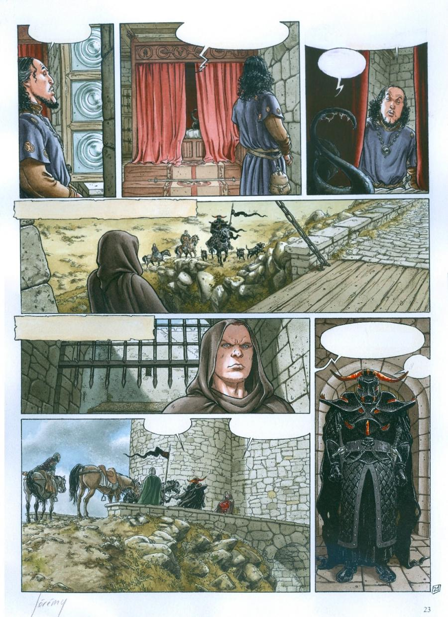 Original color comic page BALLAD OF THE LOST MOORS Issue 6 page 21