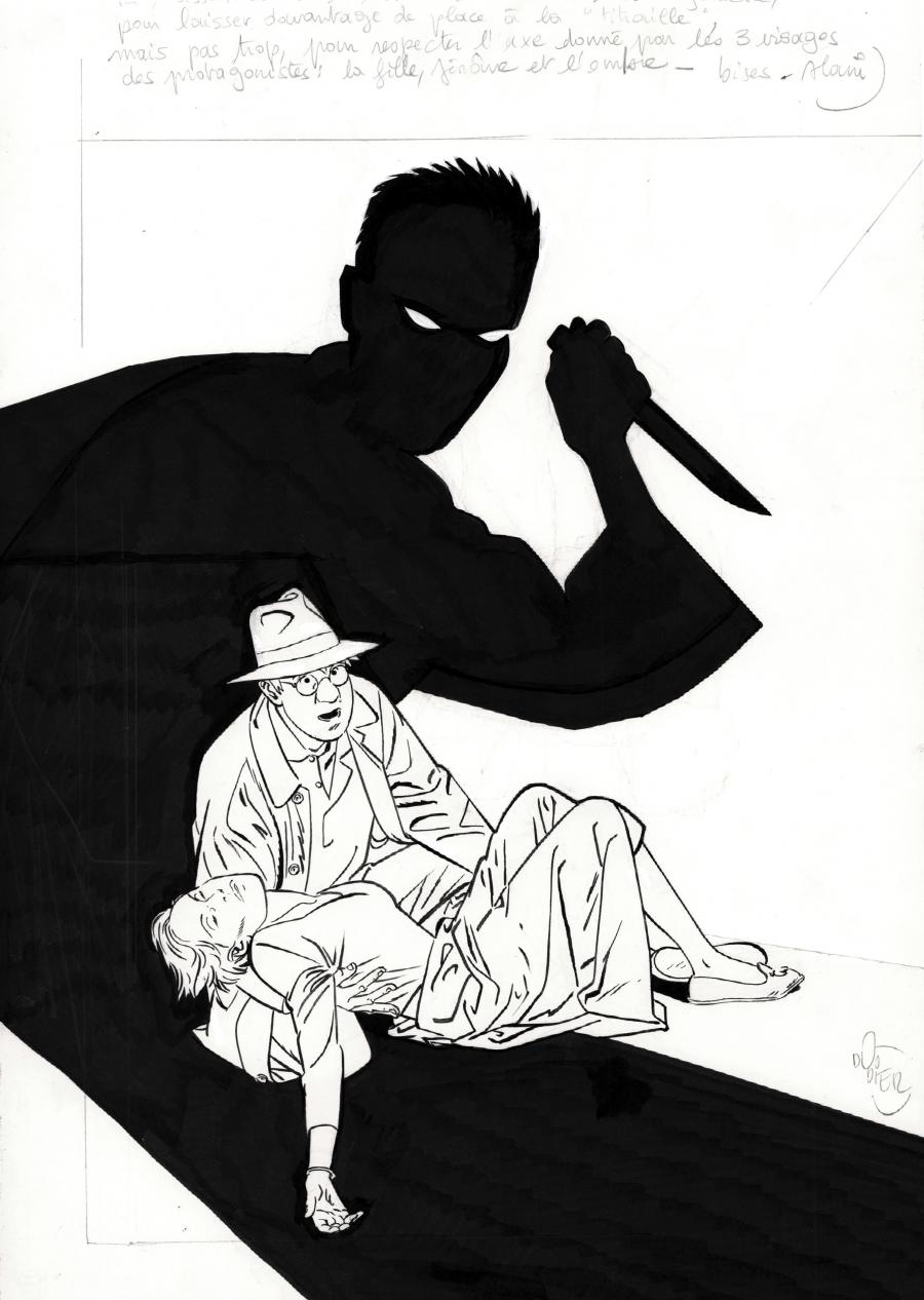 Original cover illustration from JEROME K. JEROME BLOCHE Integral issue 3 by DODIER