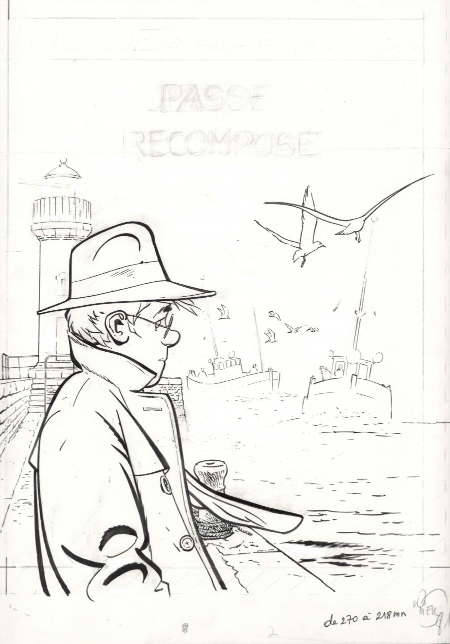 Original cover illustration from JEROME K. JEROME BLOCHE Issue 4 Passe recompose by DODIER