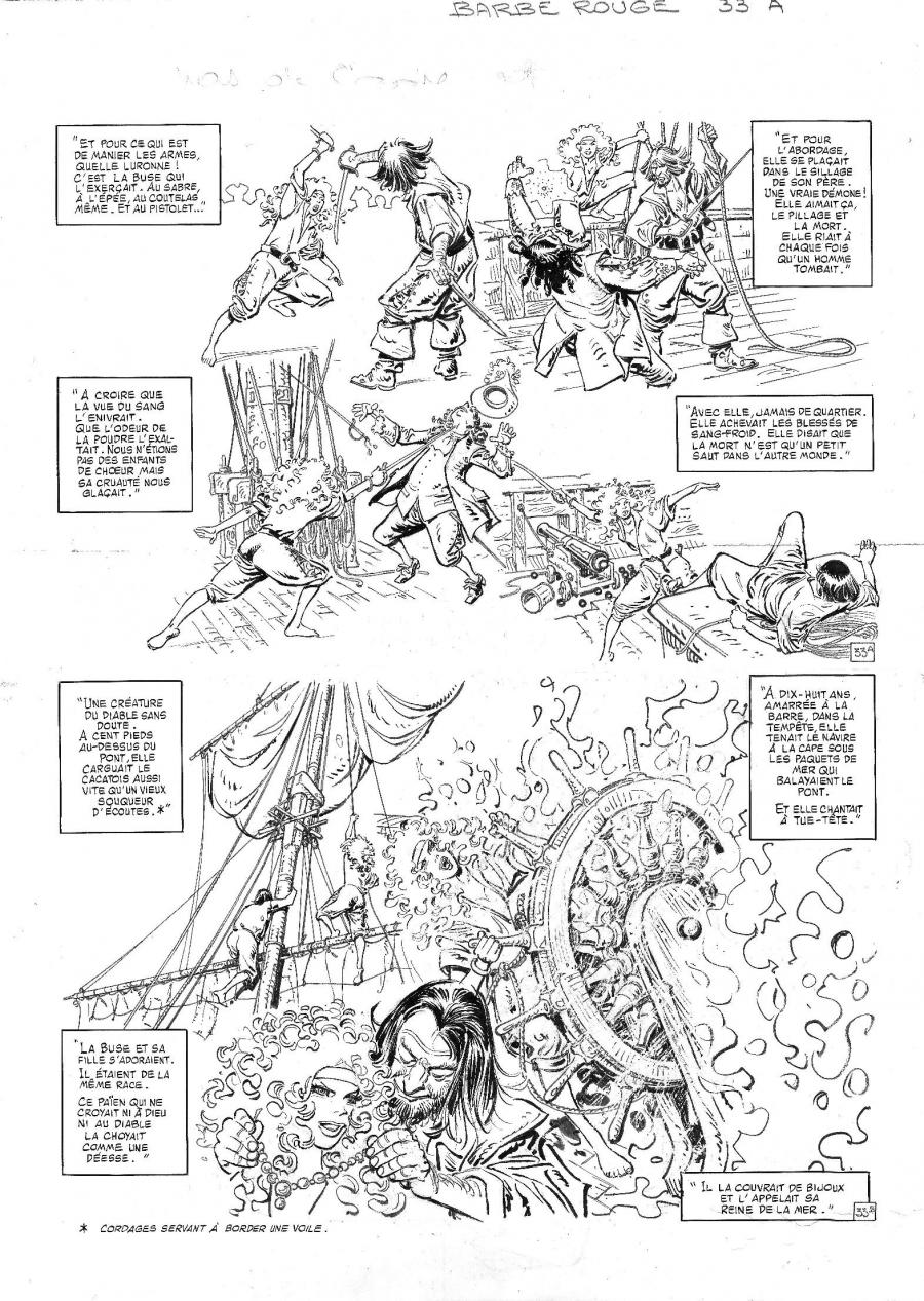 Original comic page 33 from BARBE ROUGE - Issue  28. La flibustière du sans pitié
