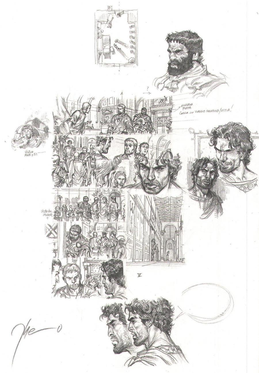 Originale pencilled page 5 of MURENA issue 10 by THEO