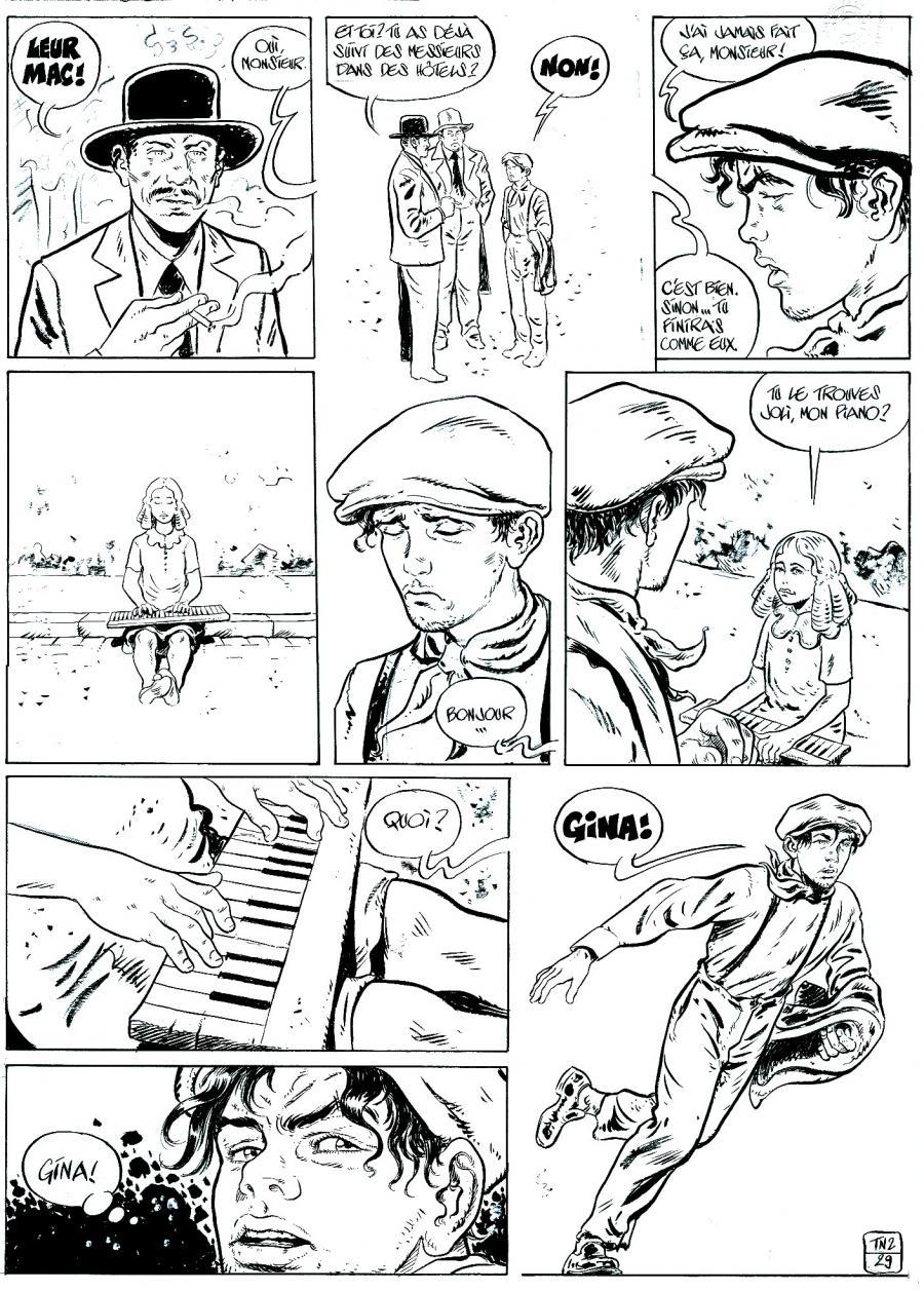Gut bekannt Dessin original BD : LA TRILOGIE NOIRE - LA TRILOGIE NOIRE Tome 2  OP48