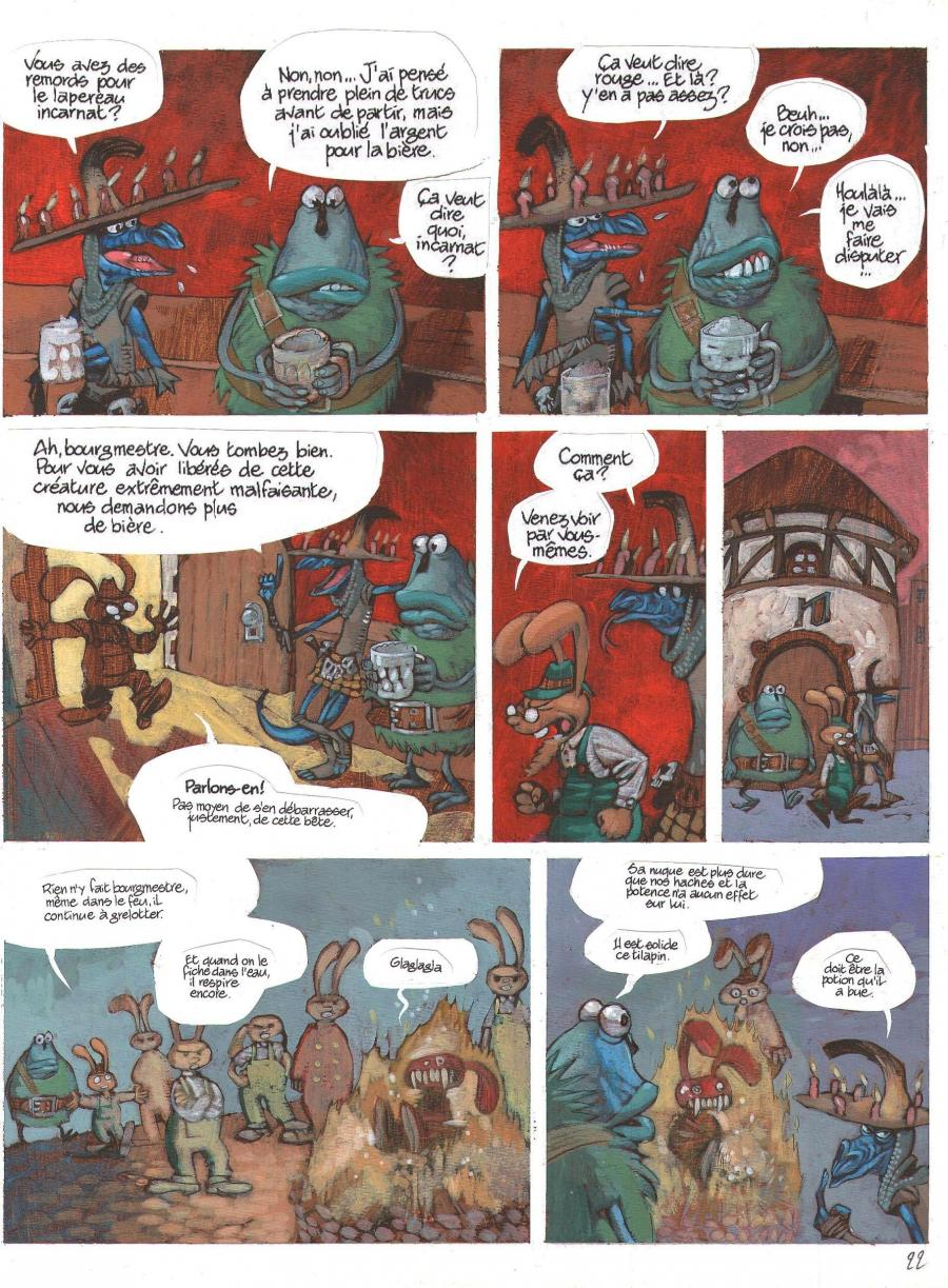 Planche originale de bande dessinée, galerie Napoléon  : DONJON MONSTERS - Planche originale 22 de Donjon Monsters Tome 6  -