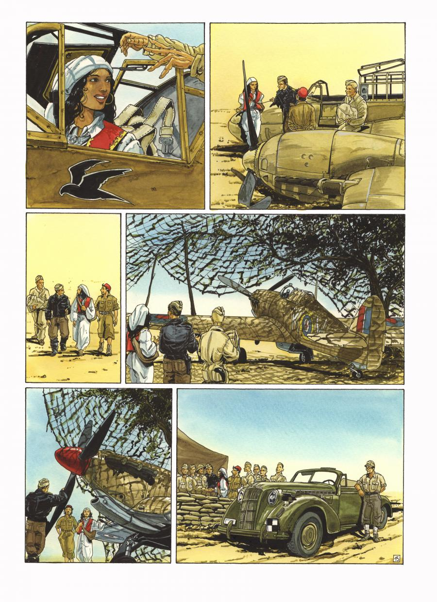 Original comic art 15 of Faucon du désert issue 2 by Franz ZUMSTEIN