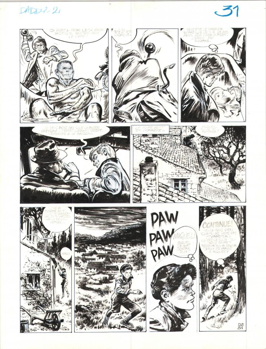 Original comic page 31 Issue 2 Daddy  by René FOLLET