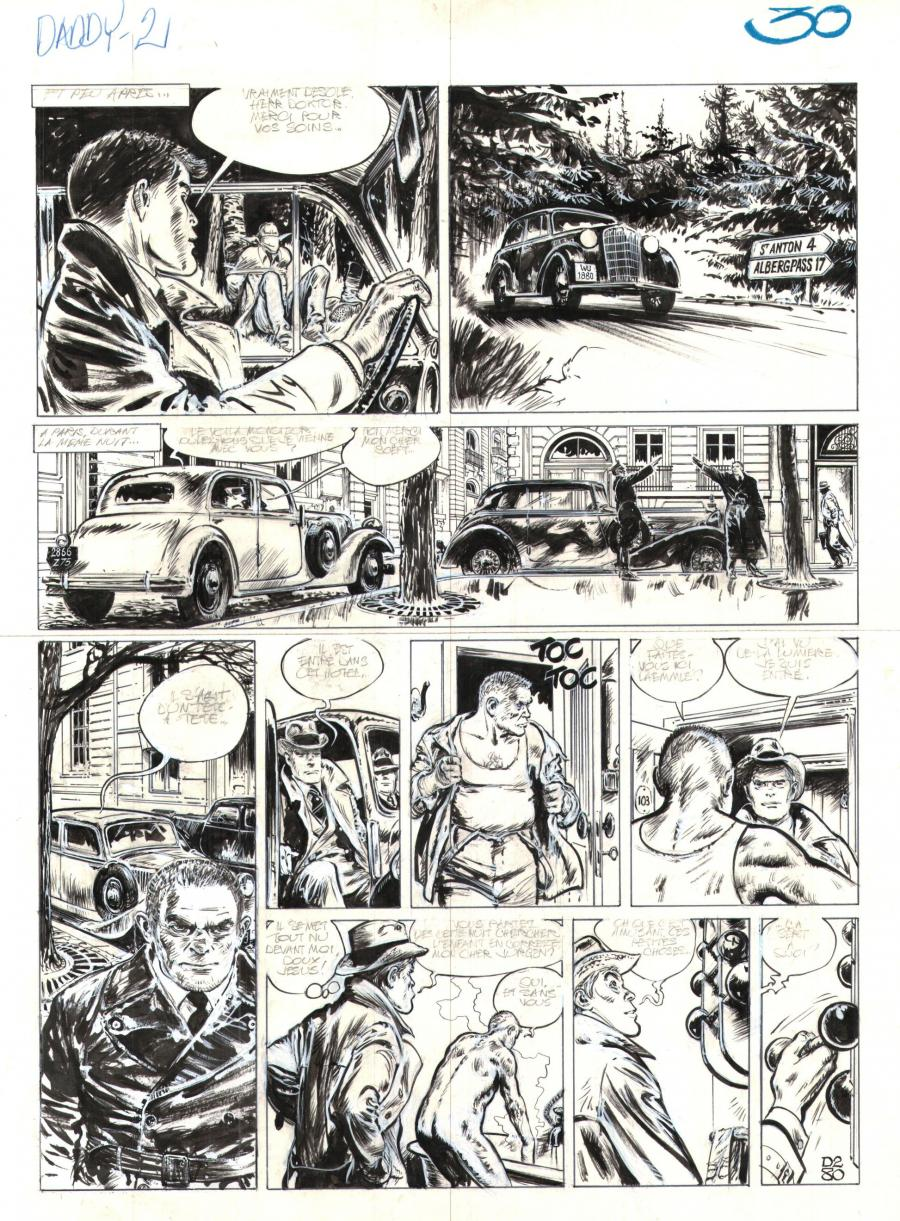 Original comic page 30 Issue 2 Daddy  by René FOLLET