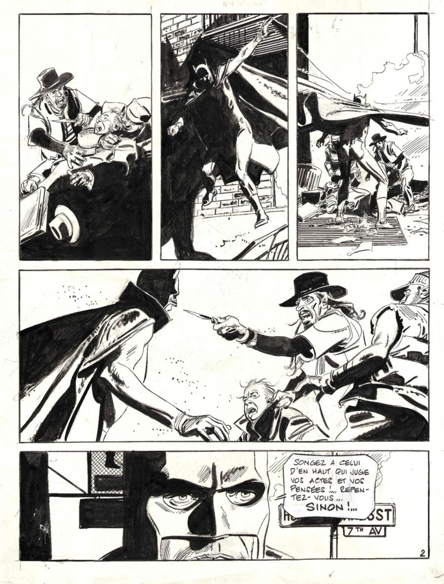 Original comic page 2 from BATMAN by Paul GILLON