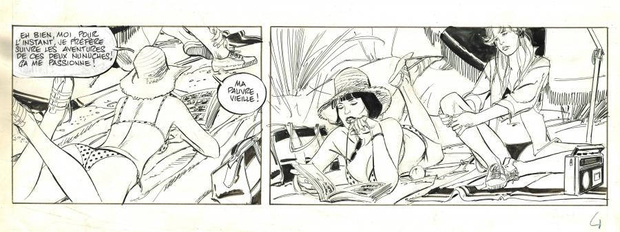 Original Strip  13 rue de l'espoir by Paul Gillon