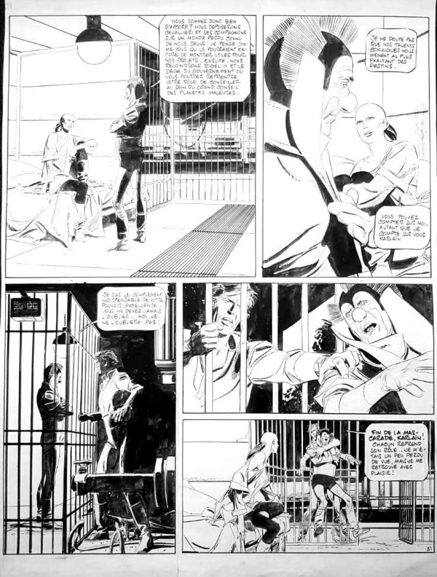 Original page 31 of Les Naufragés du temps issue 9, by Paul GILLON