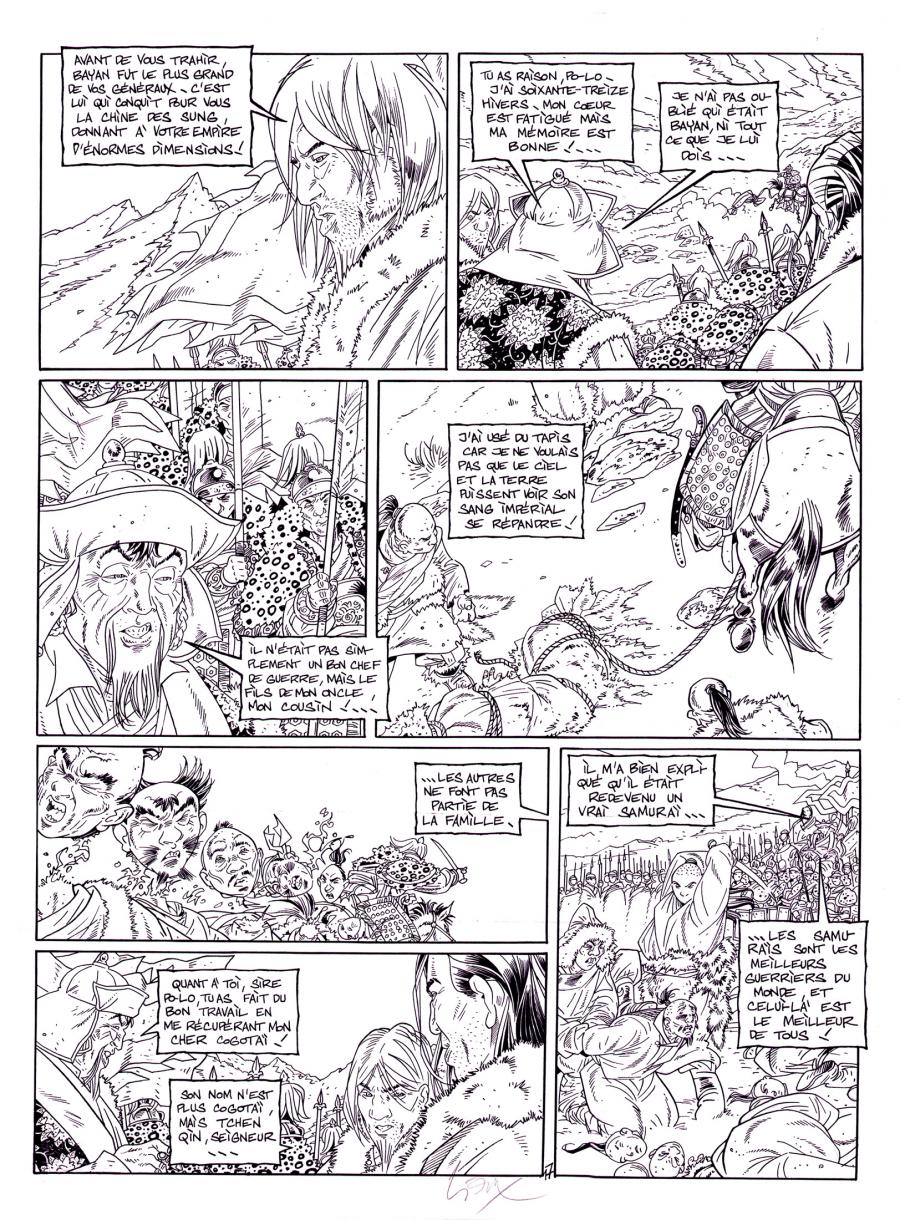 Original comic page from Le Vent Des Dieux by GIOUX issue 14 page 17.