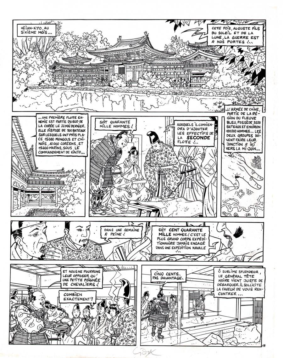 Original comic page from Le Vent Des Dieux by GIOUX issue 7 page 13.