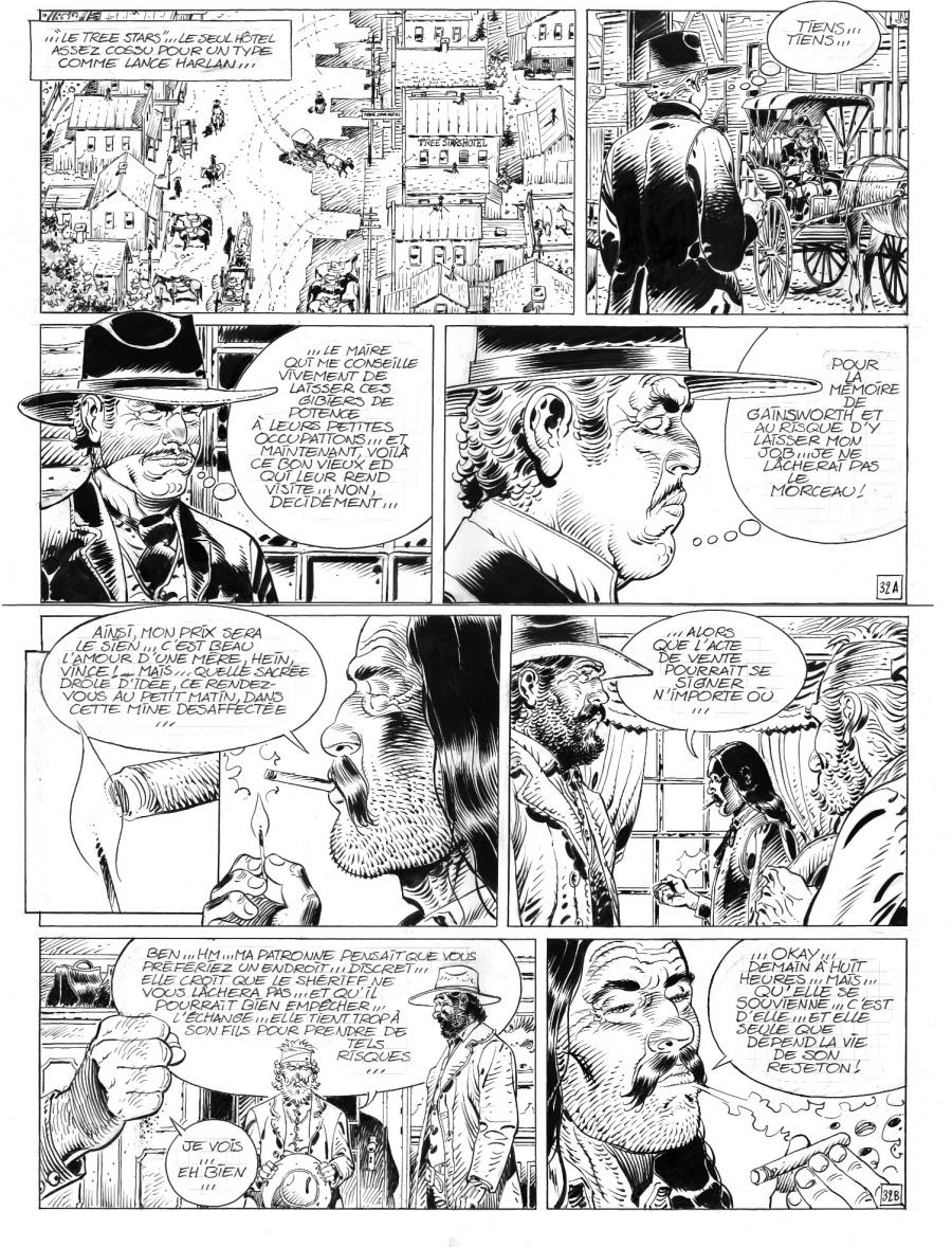 Original comic art 32 of Durango issue 14 by Thierry Girod