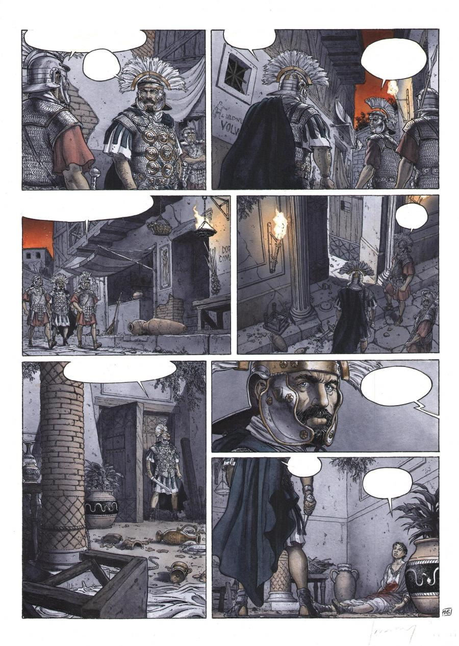 Original coloring  of page 16 from - Revanche des cendres - volume 8 of the Murena series by JEREMY