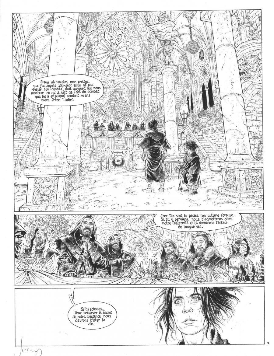 Original comic page 2 issue 1 LES CHEVALIERS D'HELIOPOLIS