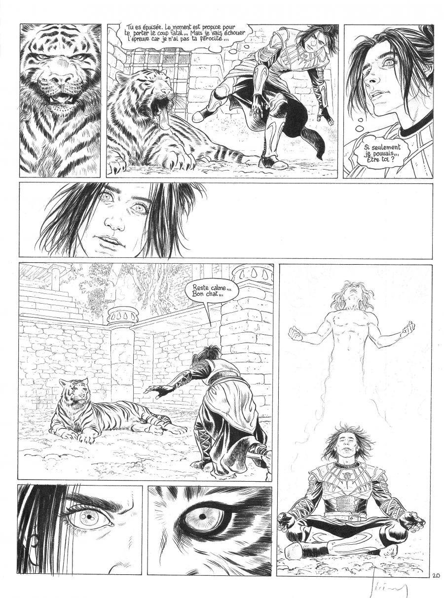 Original Comics illustration, Napoleon Gallery : LES CHEVALIERS D'HELIOPOLIS - Original comic page 20 issue 3  LES CHEVALIERS D'HELIPOLIS - 20