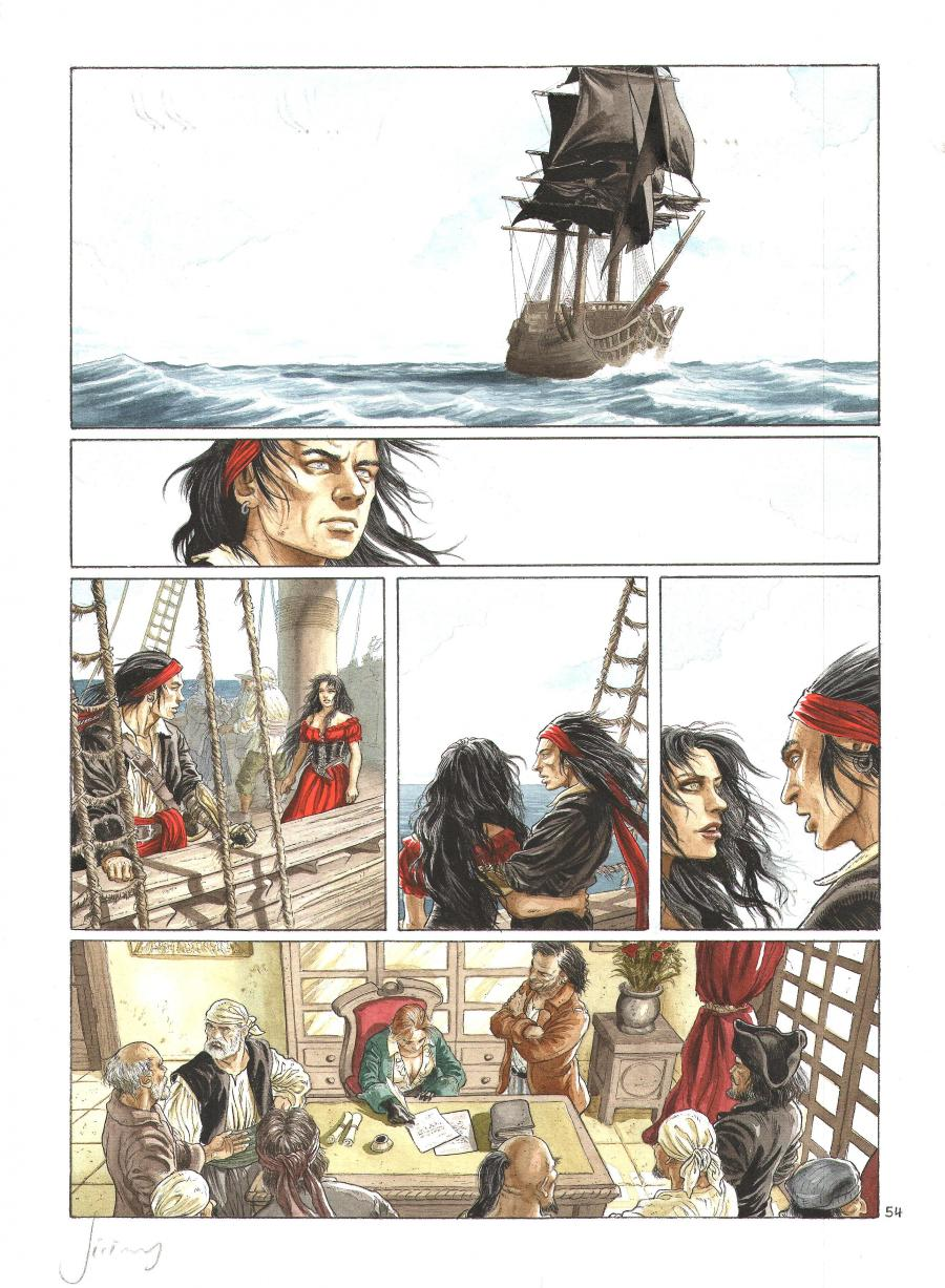 BARRACUDA Original comic page 54 Issu 6