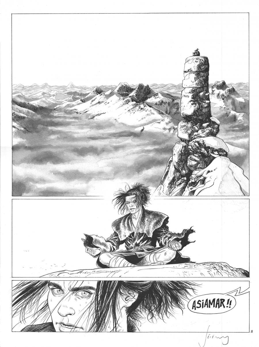 LES CHEVALIERS D'HELIOPOLIS Original comic page 8 issue 3