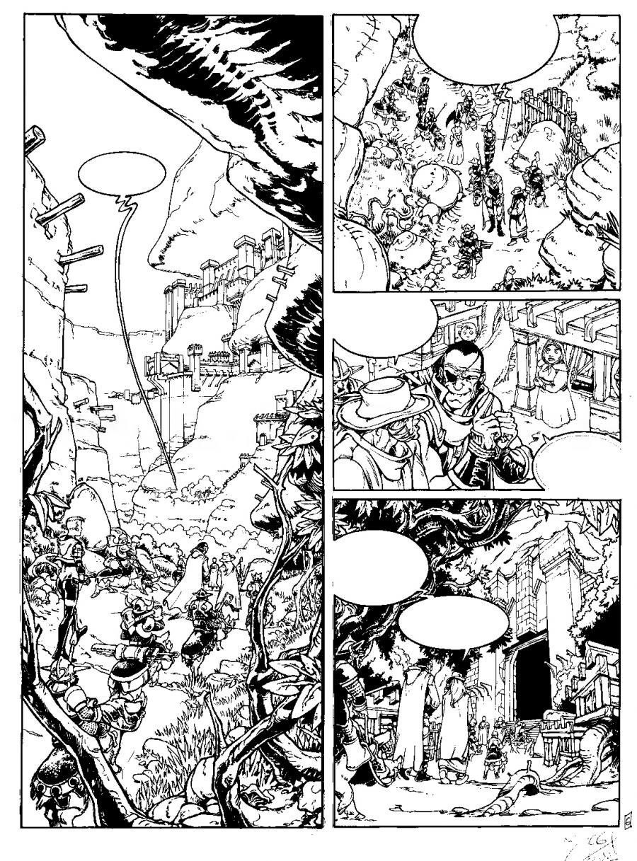 Original comic page 6 from volume 4 of ANACHRON - L'héritage du héros - by Joel JURION