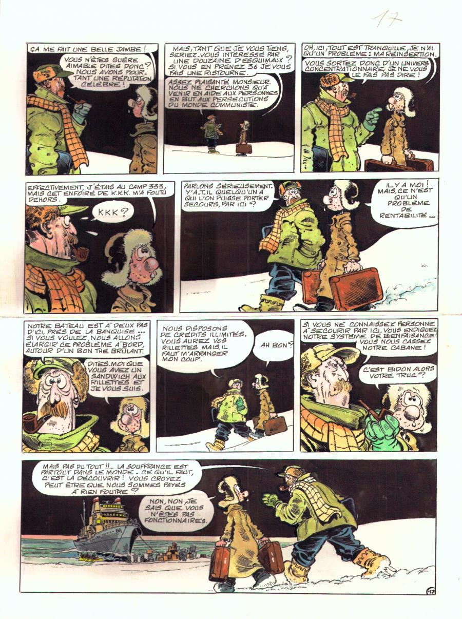 Original Comics illustration, Napoleon Gallery : LE GOULAG - LE GOULAG Issue 9 page 17 - 17