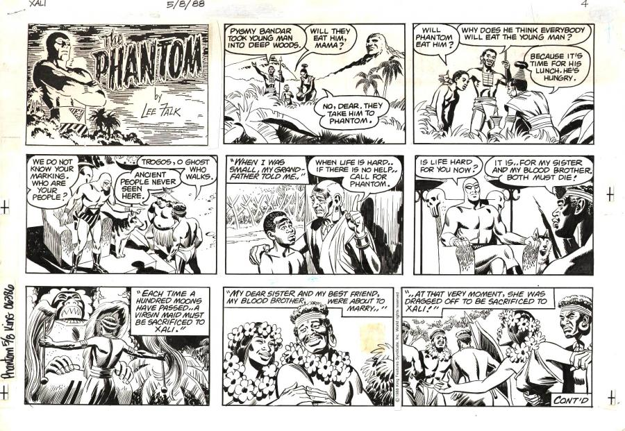 Original Comic page from the PHANTOM by Sy BARRY.