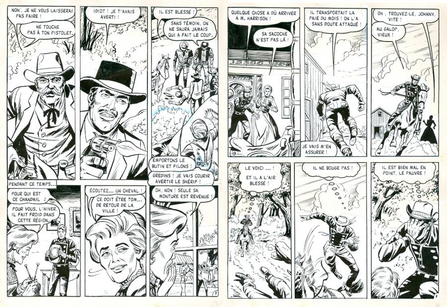 RAWHIDE KID La poursuite planches 7 et 8