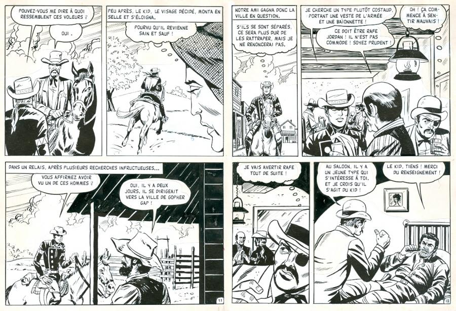 RAWHIDE KID The Manhunt pages 11 and 12