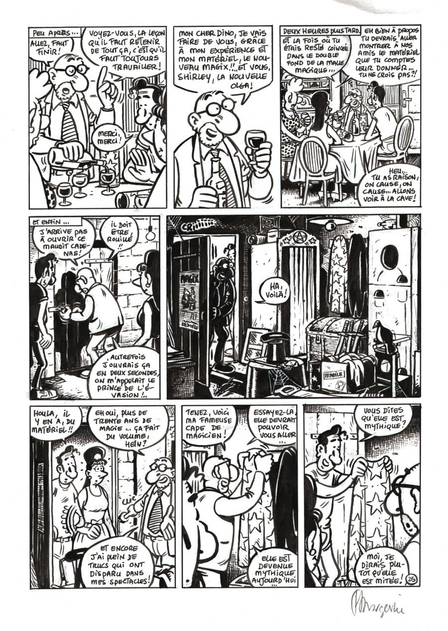 Original comic art SHIRLEY ET DINO by MARGERIN