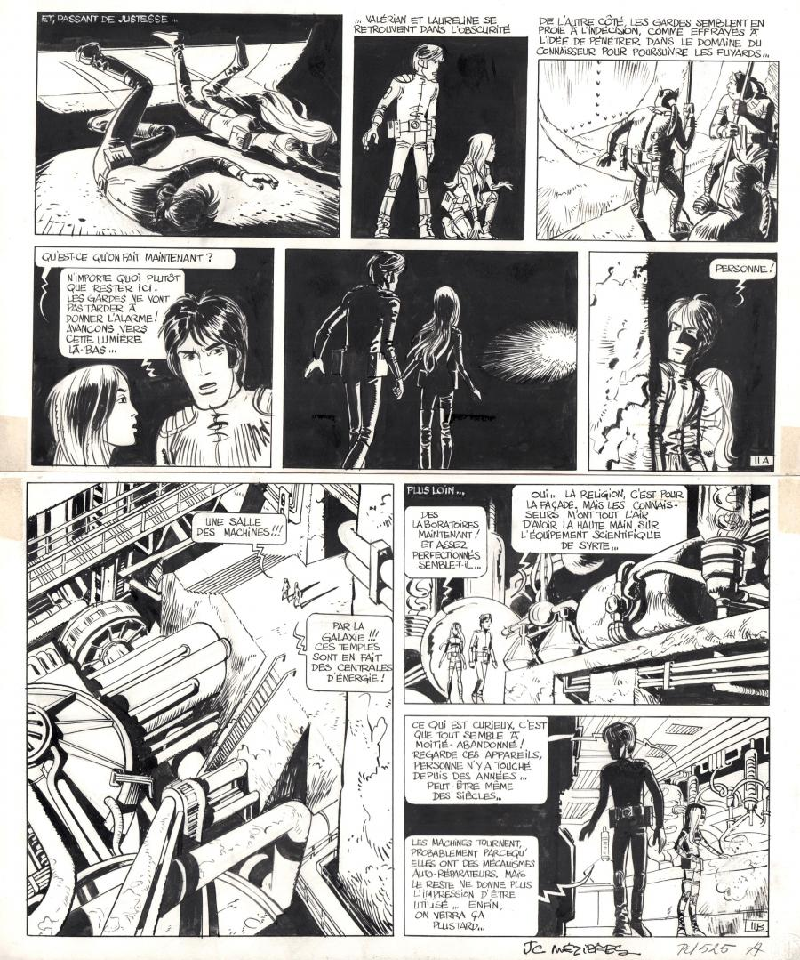 Original page 11 of VALERIAN issue 2 bu MEZIERES