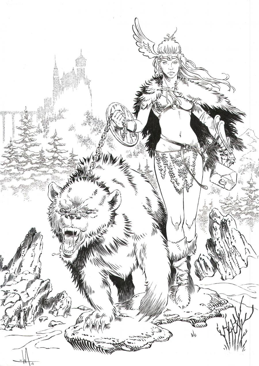Originale illustration -  northern warrior - by Mika