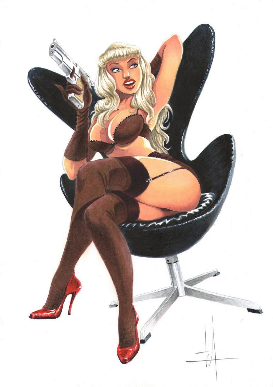 Originale illustration - Pin Up n°3 - by Mika