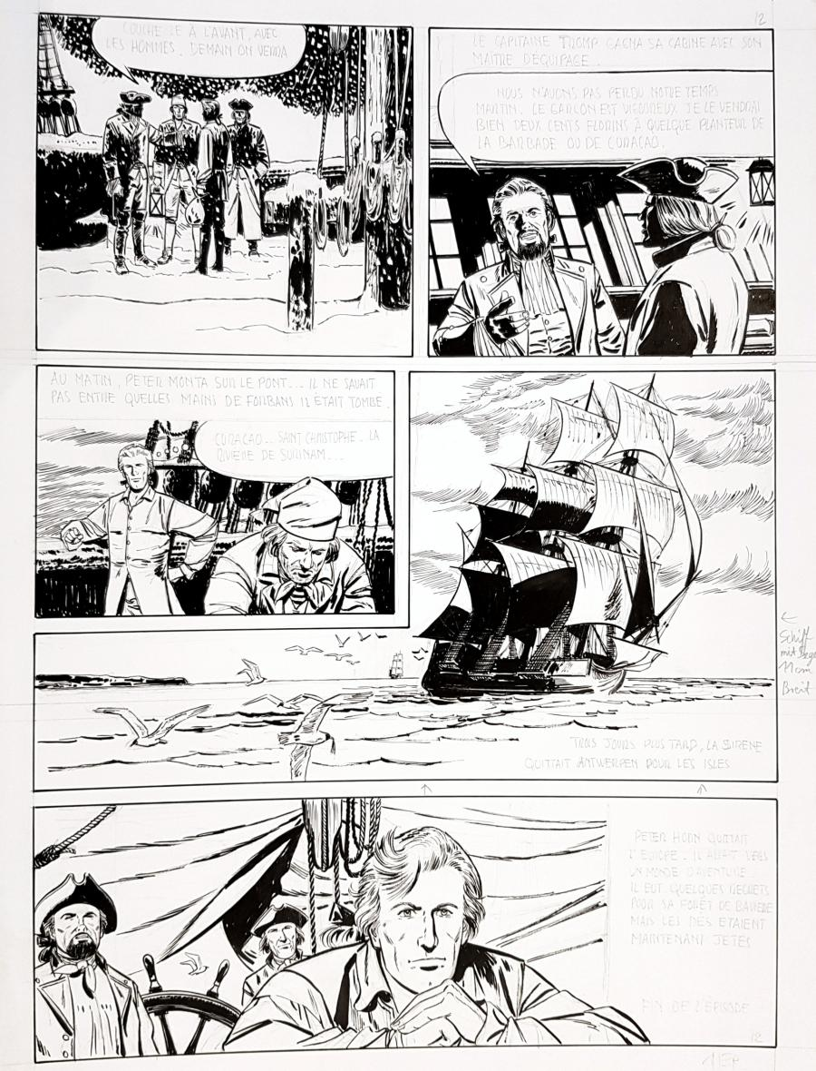 Original comic page 12 from the first episode of PETER HORN - L'évasion de Bamberg - par NORMA