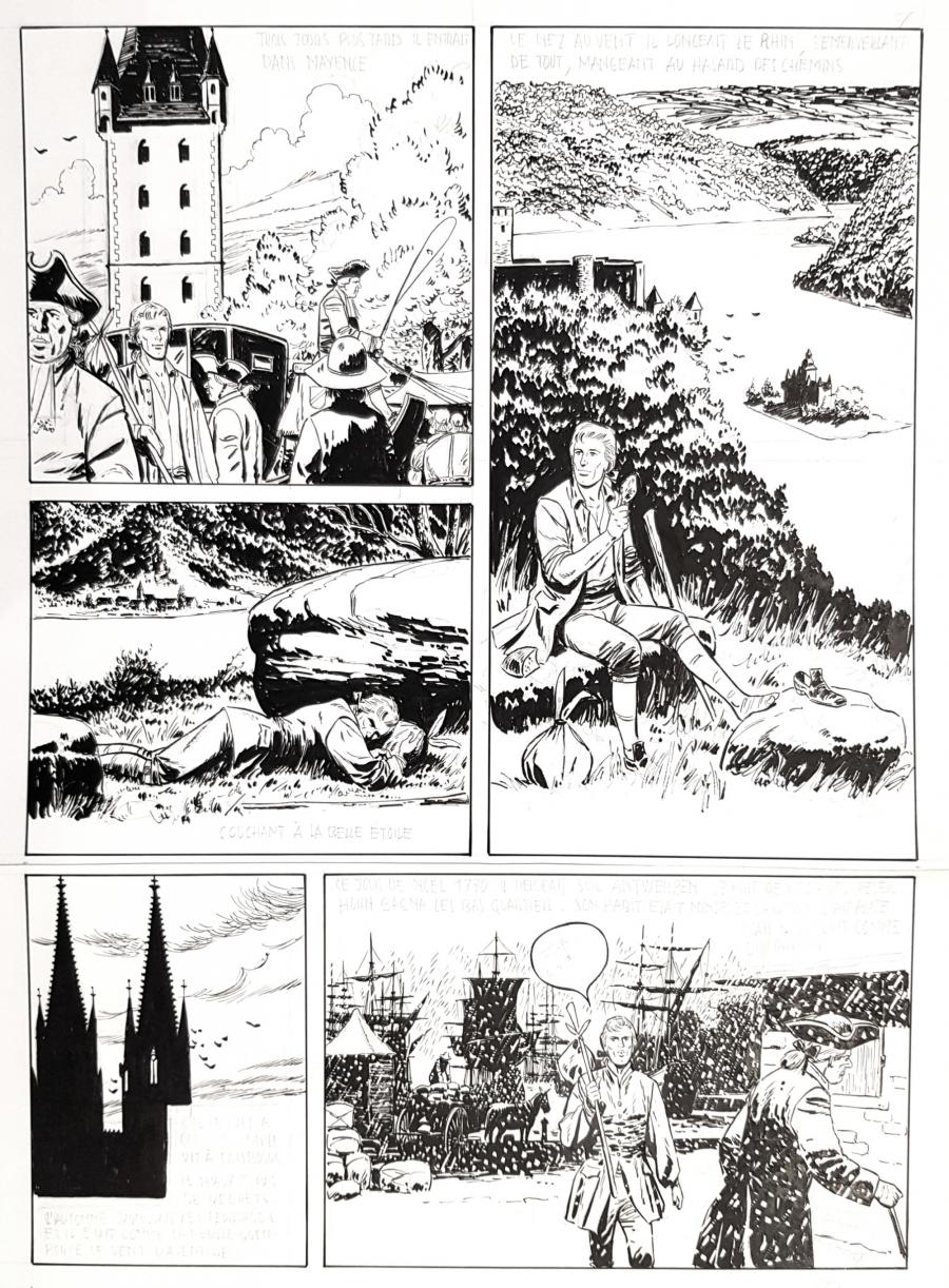 Original comic page 7 from the first episode of PETER HORN - L'évasion de Bamberg - par NORMA