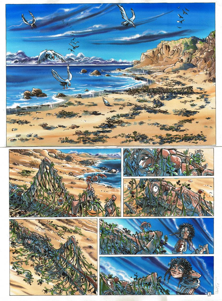 Original comic Page 4 Issue 3 La Forêt by Tiburce OGER