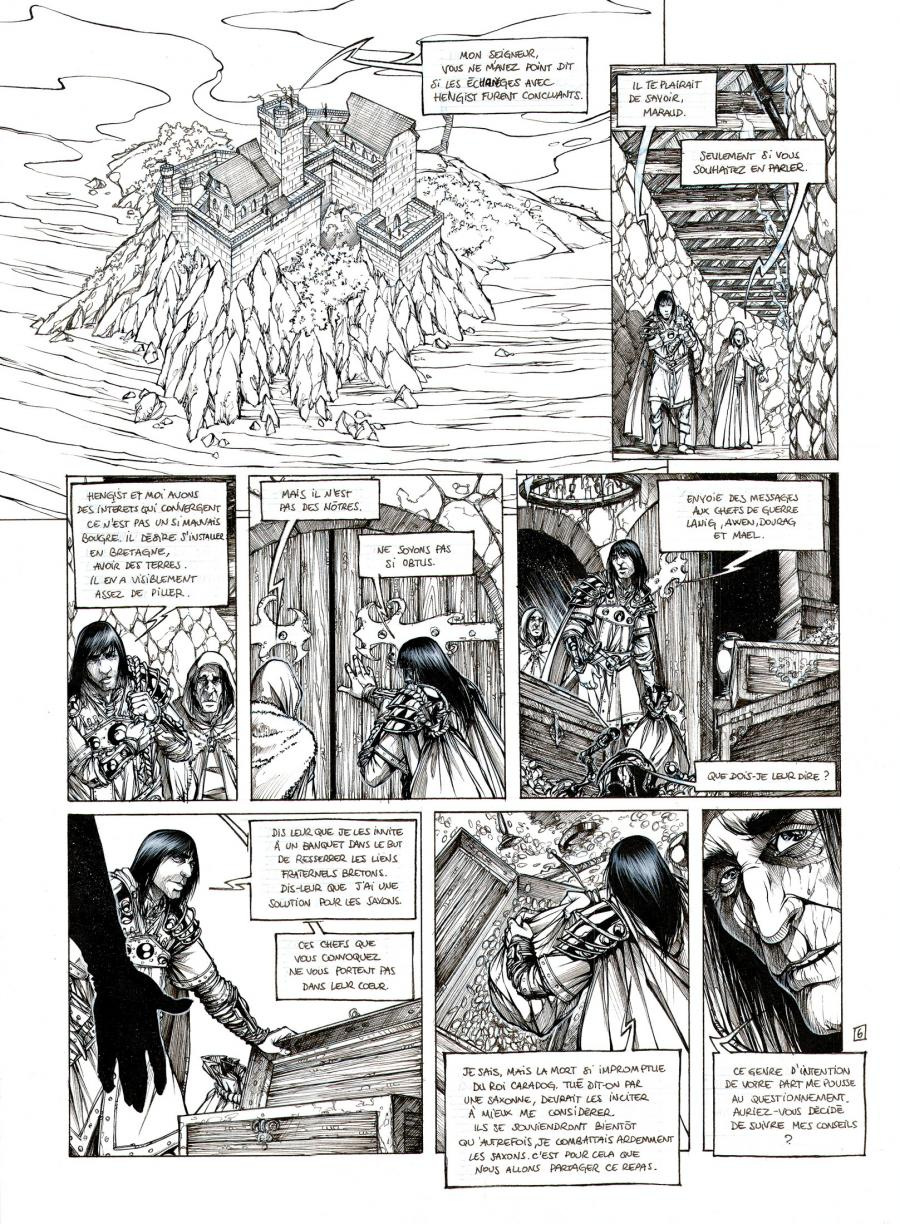 GOUX PIERRE DENIS 's original comic art published MERLIN the Prophet 2 page 6.