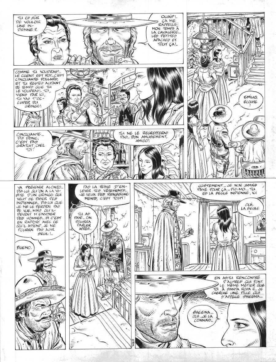 Original comic page 28 from DURANGO Issue 10 by Yves SWOLFS
