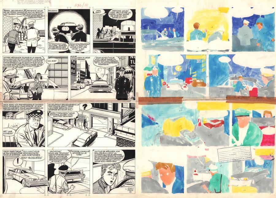 Planche originale de bande dessinée, galerie Napoléon : MARC DACIER - Planche originale 39 de MARC DACIER Les secrets de la Mer de Corail par Eddy PAAPE - 39