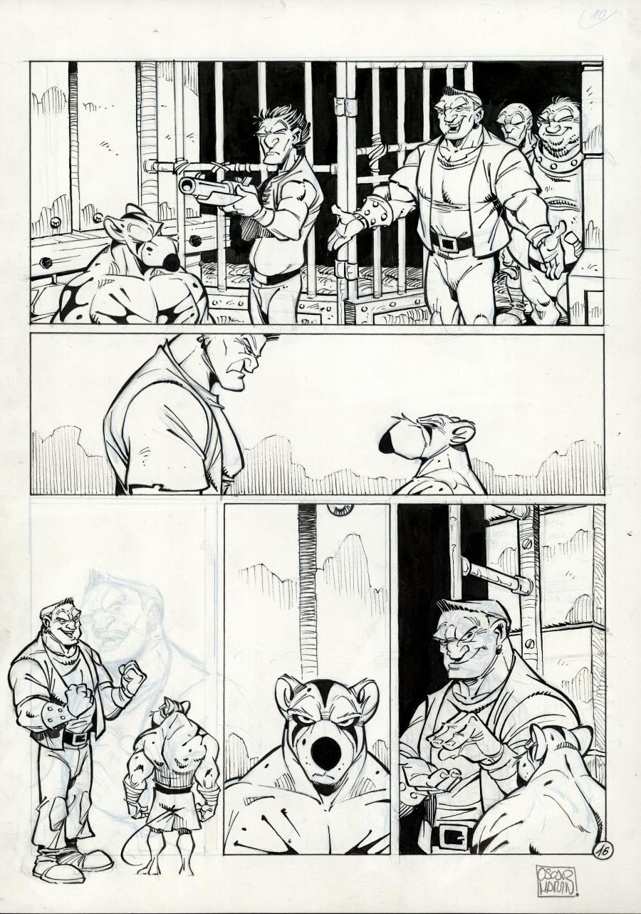 SOLO original comic page 16 issue 1 part 2