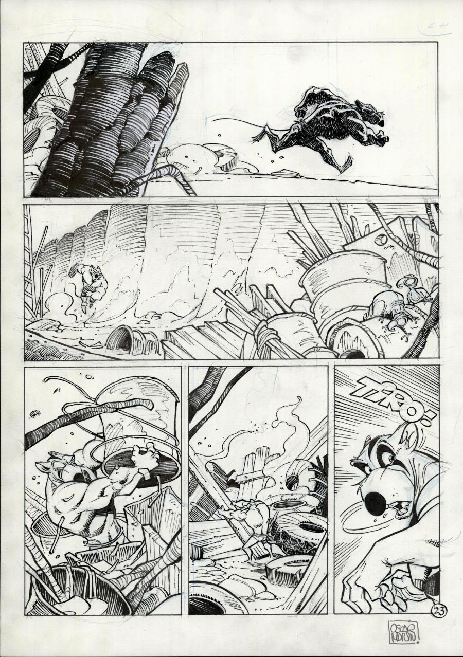 SOLO original comic page 23 issue 1 part 2