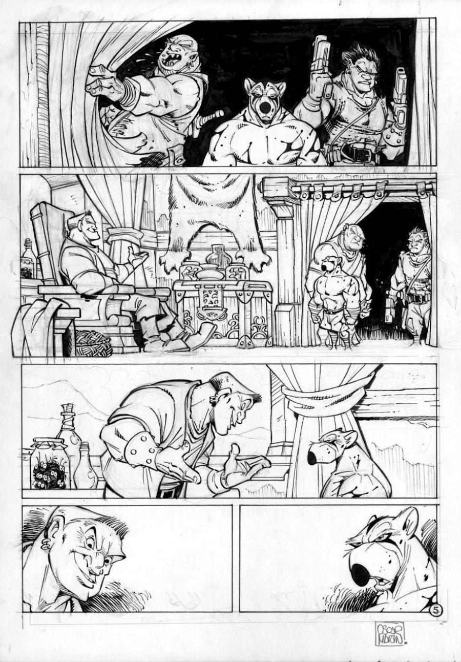SOLO original comic page 5 issue 1 part 2